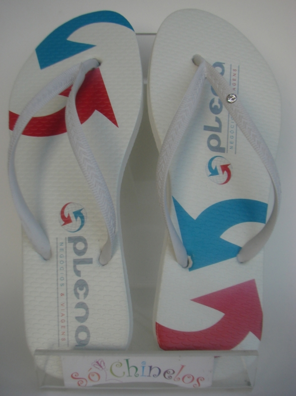 Chinelo Customizado para Evento Empresarial Minas Gerais - Chinelo para Evento Empresarial Customizado