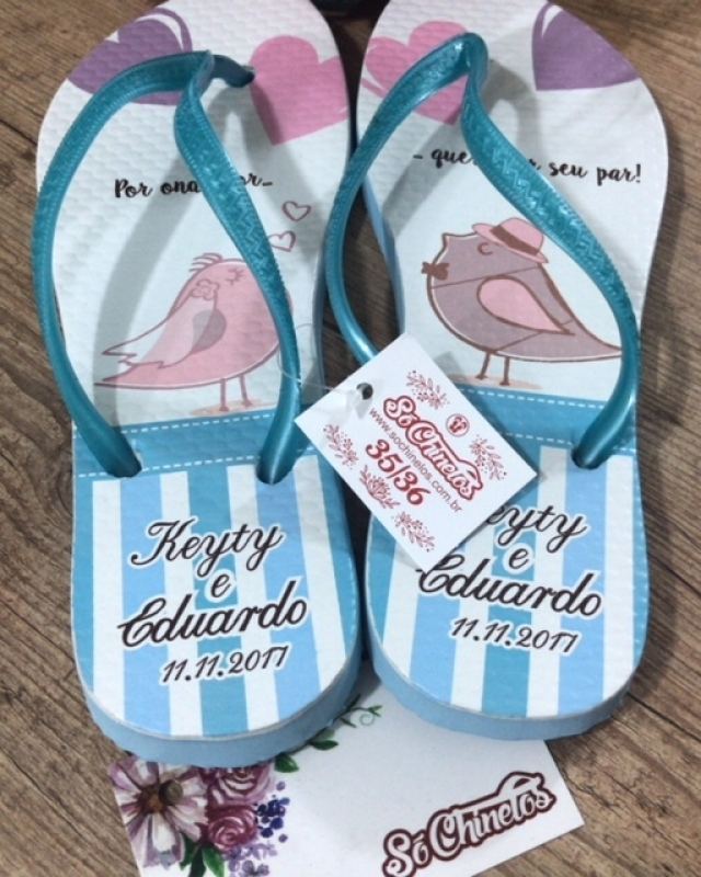 Comprar Chinelos Customizados Havaianas Minas Gerais - Chinelos Customizados Branco